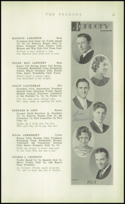 Page 23, 1934 Edition, Peabody High School - Peabody Yearbook (Pittsburgh, PA) online yearbook collection