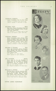 Page 27, 1934 Edition, Peabody High School - Peabody Yearbook (Pittsburgh, PA) online yearbook collection
