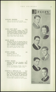 Page 31, 1934 Edition, Peabody High School - Peabody Yearbook (Pittsburgh, PA) online yearbook collection