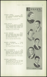 Page 35, 1934 Edition, Peabody High School - Peabody Yearbook (Pittsburgh, PA) online yearbook collection