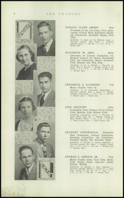 Page 10, 1936 Edition, Peabody High School - Peabody Yearbook (Pittsburgh, PA) online yearbook collection