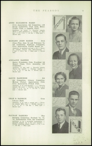 Page 11, 1936 Edition, Peabody High School - Peabody Yearbook (Pittsburgh, PA) online yearbook collection