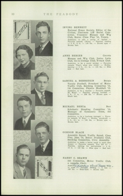 Page 12, 1936 Edition, Peabody High School - Peabody Yearbook (Pittsburgh, PA) online yearbook collection