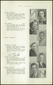Page 13, 1936 Edition, Peabody High School - Peabody Yearbook (Pittsburgh, PA) online yearbook collection