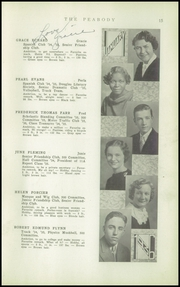 Page 17, 1936 Edition, Peabody High School - Peabody Yearbook (Pittsburgh, PA) online yearbook collection