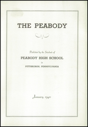 Page 5, 1940 Edition, Peabody High School - Peabody Yearbook (Pittsburgh, PA) online yearbook collection
