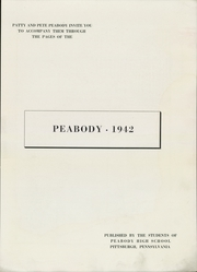 Page 5, 1942 Edition, Peabody High School - Peabody Yearbook (Pittsburgh, PA) online yearbook collection