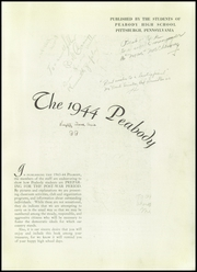 Page 5, 1944 Edition, Peabody High School - Peabody Yearbook (Pittsburgh, PA) online yearbook collection