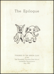 Page 5, 1952 Edition, Hempfield High School - Epilogue Yearbook (Landisville, PA) online yearbook collection