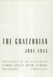 Page 7, 1945 Edition, Gratz High School - Gratzonian Yearbook (Philadelphia, PA) online yearbook collection
