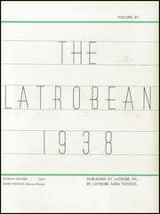 Page 9, 1938 Edition, Greater Latrobe High School - Latrobean Yearbook (Latrobe, PA) online yearbook collection