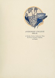 Page 7, 1927 Edition, Anderson College - Columns / Sororian Yearbook (Anderson, SC) online yearbook collection