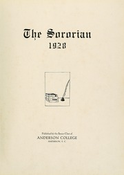 Page 7, 1928 Edition, Anderson College - Columns / Sororian Yearbook (Anderson, SC) online yearbook collection