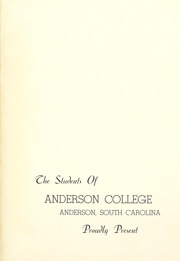 Page 5, 1947 Edition, Anderson College - Columns / Sororian Yearbook (Anderson, SC) online yearbook collection