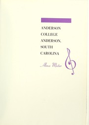 Page 5, 1955 Edition, Anderson College - Columns / Sororian Yearbook (Anderson, SC) online yearbook collection