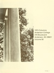 Page 5, 1974 Edition, Anderson College - Columns / Sororian Yearbook (Anderson, SC) online yearbook collection