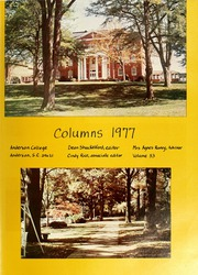 Page 5, 1977 Edition, Anderson College - Columns / Sororian Yearbook (Anderson, SC) online yearbook collection