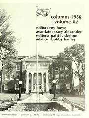 Page 5, 1986 Edition, Anderson College - Columns / Sororian Yearbook (Anderson, SC) online yearbook collection