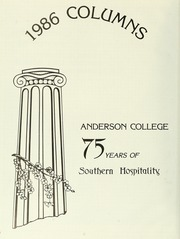 Page 6, 1986 Edition, Anderson College - Columns / Sororian Yearbook (Anderson, SC) online yearbook collection