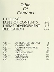 Page 7, 1986 Edition, Anderson College - Columns / Sororian Yearbook (Anderson, SC) online yearbook collection