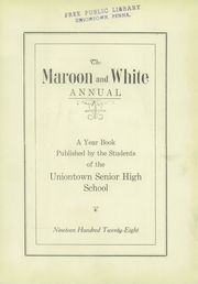 Page 7, 1928 Edition, Uniontown High School - Maroon and White Yearbook (Uniontown, PA) online yearbook collection