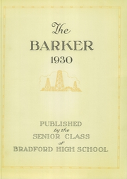 Page 7, 1930 Edition, Bradford High School - Barker Yearbook (Bradford, PA) online yearbook collection
