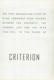 Page 5, 1941 Edition, Plum Senior High School - Criterion Yearbook (Pittsburgh, PA) online yearbook collection
