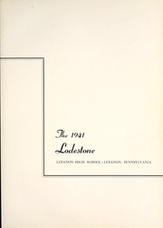 Page 7, 1941 Edition, Lebanon High School - Lodestone Yearbook (Lebanon, PA) online yearbook collection