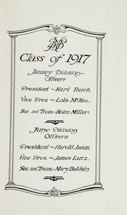 Page 15, 1917 Edition, Beaver Falls High School - Tiger Yearbook (Beaver Falls, PA) online yearbook collection