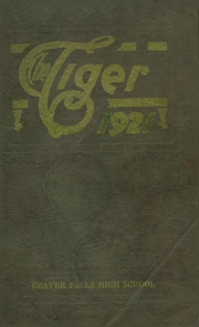 Page 1, 1921 Edition, Beaver Falls High School - Tiger Yearbook (Beaver Falls, PA) online yearbook collection