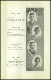 Page 15, 1921 Edition, Beaver Falls High School - Tiger Yearbook (Beaver Falls, PA) online yearbook collection