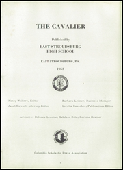 Page 7, 1953 Edition, East Stroudsburg High School - Cavalier Yearbook (East Stroudsburg, PA) online yearbook collection