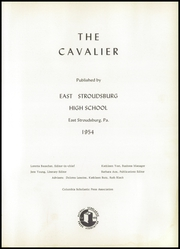 Page 5, 1954 Edition, East Stroudsburg High School - Cavalier Yearbook (East Stroudsburg, PA) online yearbook collection