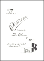 Page 5, 1952 Edition, Stroudsburg High School - Pioneer Yearbook (Stroudsburg, PA) online yearbook collection