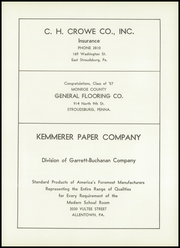 Page 105, 1957 Edition, Stroudsburg High School - Pioneer Yearbook (Stroudsburg, PA) online yearbook collection