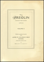 Page 5, 1933 Edition, Coughlin High School - Breidlin Yearbook (Wilkes Barre, PA) online yearbook collection