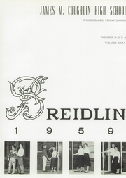Page 3, 1959 Edition, Coughlin High School - Breidlin Yearbook (Wilkes Barre, PA) online yearbook collection