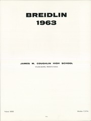 Page 5, 1963 Edition, Coughlin High School - Breidlin Yearbook (Wilkes Barre, PA) online yearbook collection