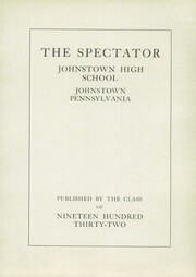 Page 5, 1932 Edition, Greater Johnstown High School - Spectator Yearbook (Johnstown, PA) online yearbook collection
