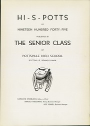 Page 5, 1945 Edition, Pottsville High School - Hi S Potts Yearbook (Pottsville, PA) online yearbook collection