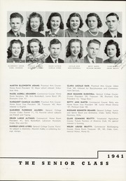 Page 16, 1941 Edition, Indiana High School - L Indien Yearbook (Indiana, PA) online yearbook collection