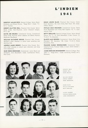 Page 17, 1941 Edition, Indiana High School - L Indien Yearbook (Indiana, PA) online yearbook collection
