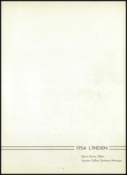 Page 5, 1954 Edition, Indiana High School - L Indien Yearbook (Indiana, PA) online yearbook collection