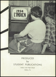 Page 7, 1954 Edition, Indiana High School - L Indien Yearbook (Indiana, PA) online yearbook collection