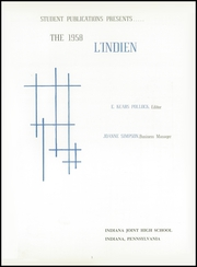 Page 5, 1958 Edition, Indiana High School - L Indien Yearbook (Indiana, PA) online yearbook collection