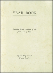 Page 3, 1933 Edition, Radnor High School - Radnor Yearbook (Radnor, PA) online yearbook collection