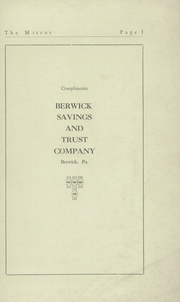Page 3, 1929 Edition, Berwick High School - Blue and White Yearbook (Berwick, PA) online yearbook collection