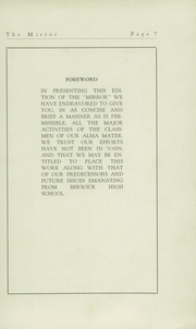 Page 9, 1929 Edition, Berwick High School - Blue and White Yearbook (Berwick, PA) online yearbook collection