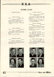 Page 13, 1942 Edition, Berwick High School - Blue and White Yearbook (Berwick, PA) online yearbook collection