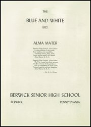 Page 3, 1952 Edition, Berwick High School - Blue and White Yearbook (Berwick, PA) online yearbook collection